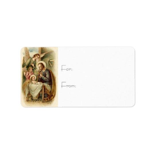 Gift Tags: St. Joseph Nativity Address Label