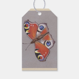 Gift Tags with Peacock Butterfly Design
