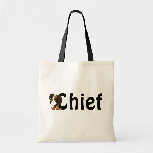 Gift Tote Bag Indian Chief Leader Head o Household