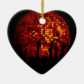 Gift with dancing crowd christmas ornament