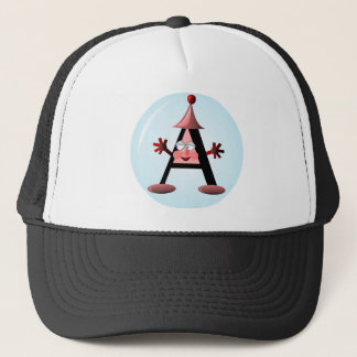 Gift with Letter A initial Trucker Hat