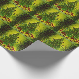 Gift Wrap Beautiful Vintage Christmas 1950 Art Wrapping Paper