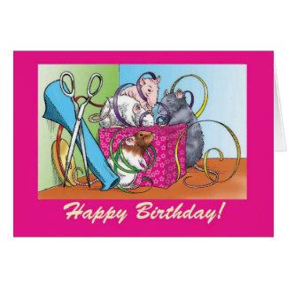 Gift Wrap Birthday Card