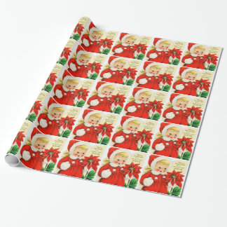 "Gift Wrap ""Merry Christmas to a Dear Little Niece"" Wrapping Paper"