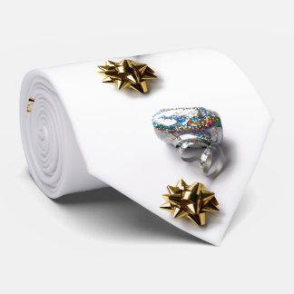 Gift Wrap Shiny Bow and Ribbon Tie