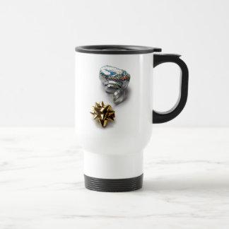 Gift Wrap Shiny Bow and Ribbon Travel Mug