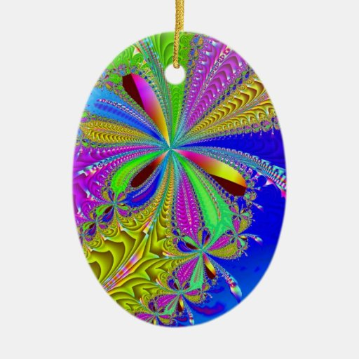 Gift wrapped Ornament with Bow - Fractal Style