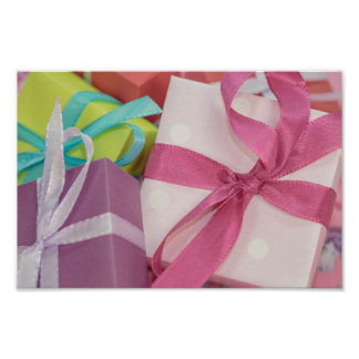 Gift wrapped Presents Poster