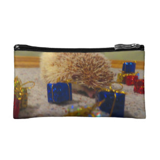 Gift Wrapping Hedgehog Funny Zip Bag