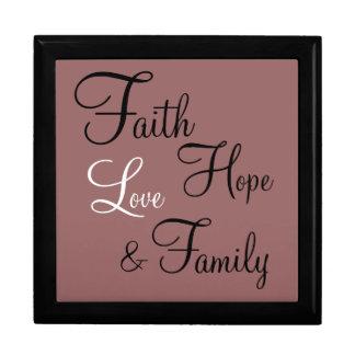 Giftbox - Prayer Box Faith Hope Love Family Trinket Boxes