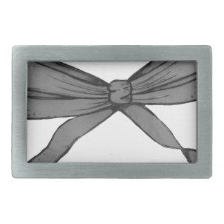 Gifted bow rectangular belt buckle