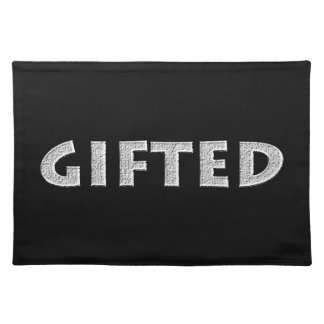 Gifted concept. placemat