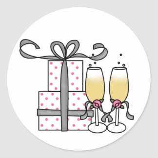 Gifts and Champagne Sticker