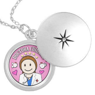 Gifts Doctor Take care of Brown and Rosa to me Round Locket Necklace