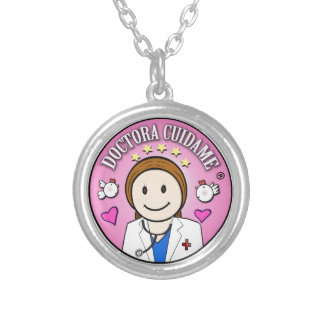 Gifts Doctor Take care of Brown and Rosa to me Round Pendant Necklace
