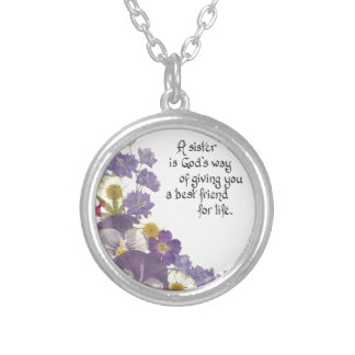 Gifts for a sister silver plated necklace