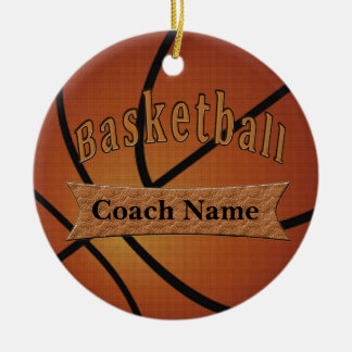 Gifts for Basketball Coach Ideas Christmas Ornament