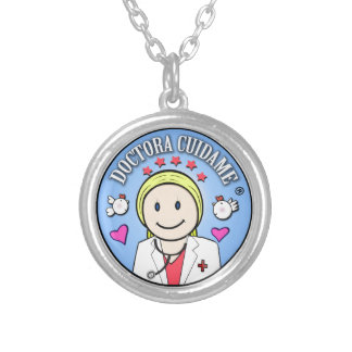 Gifts for Blond and Celestial Doctor Take care of  Round Pendant Necklace