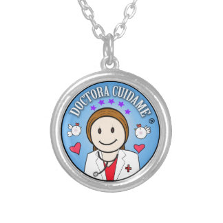 Gifts for Brown and Celestial Doctor Take care of  Round Pendant Necklace