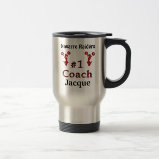 Gifts for Cheerleading Coaches PERSONALIZED Stainless Steel Travel Mug