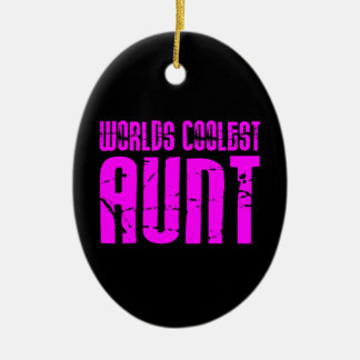 Gifts for Cool Aunts : Pink Worlds Coolest Aunt Christmas Ornament