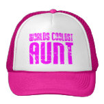 Gifts for Cool Aunts : Pink Worlds Coolest Aunt Mesh Hat