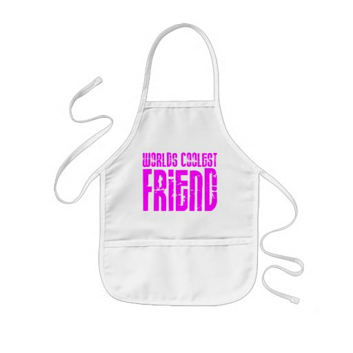Gifts for Cool Friends Pink Worlds Coolest Friend Aprons