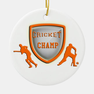 Gifts for cricket players christmas tree ornaments