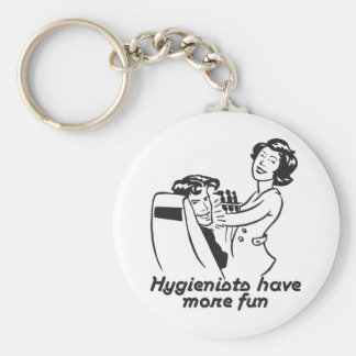Gifts for Dental Hygienists Basic Round Button Key Ring
