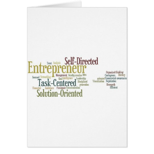 Gifts For Entrepreneurs Card