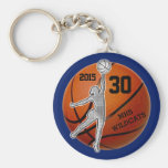 Gifts for Girls Basketball Team PERSONALIZED Basic Round Button Key Ring
