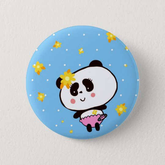 Gifts for Girls Cute Pandas Bears Personalized 6 Cm Round Badge