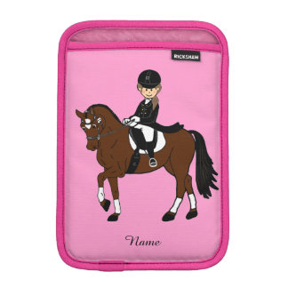 Gifts for girls - I love horses - dressage rider iPad Mini Sleeve