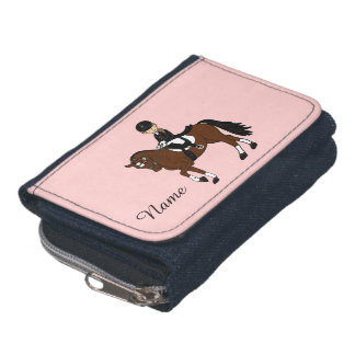 Gifts for girls - I love horses - dressage rider Wallets