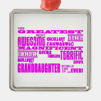 Gifts for Granddaughters : Greatest Granddaughter Christmas Ornament
