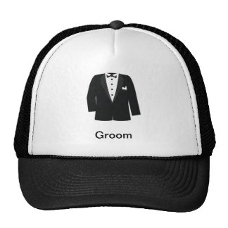 GIFTS FOR GROOM S OR BLACK TIE EVENTS MESH HATS
