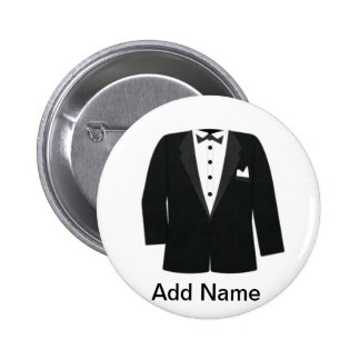 GIFTS FOR GROOM'S OR BLACK TIE EVENTS 6 CM ROUND BADGE