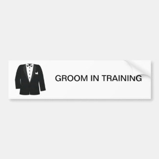 GIFTS FOR GROOM'S OR BLACK TIE EVENTS BUMPER STICKER
