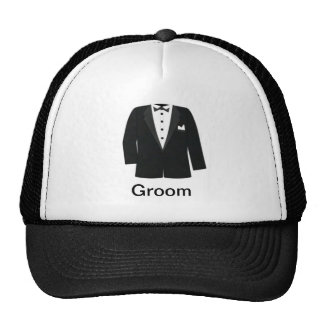 GIFTS FOR GROOM'S OR BLACK TIE EVENTS TRUCKER HATS