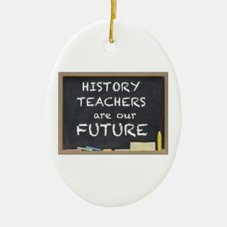 GIFTS FOR HISTORY TEACHERS CERAMIC OVAL DECORATION