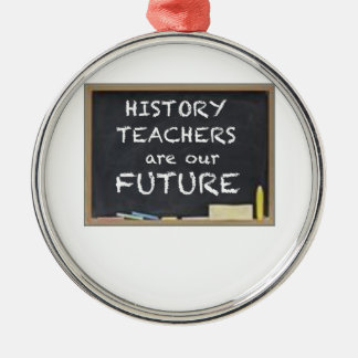 GIFTS FOR HISTORY TEACHERS Silver-Colored ROUND DECORATION