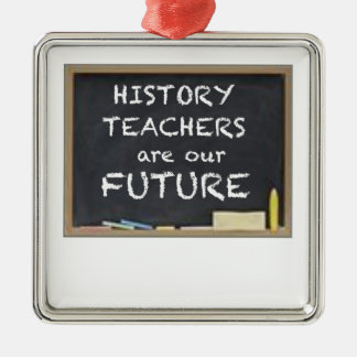 GIFTS FOR HISTORY TEACHERS Silver-Colored SQUARE DECORATION