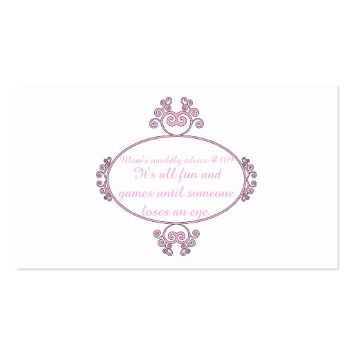 Gifts for mom: Her words of wisdom on t-shirts. Business Card Templates