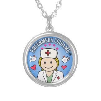 Gifts for Nurse Take care of Blond Celeste to me Round Pendant Necklace