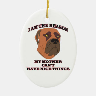 Gifts for people with naughty dogs christmas ornament