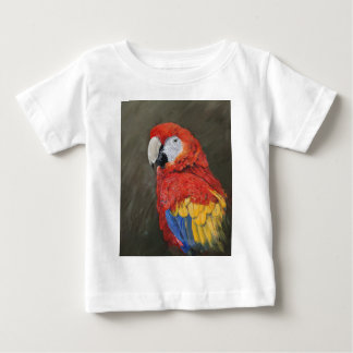 Gifts for the Parrot lover. Scarlet Macaw Baby T-Shirt