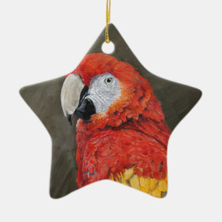 Gifts for the Parrot lover. Scarlet Macaw Christmas Ornament