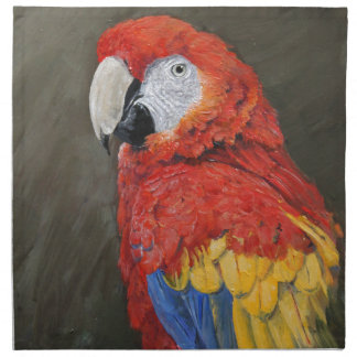 Gifts for the Parrot lover. Scarlet Macaw Napkin
