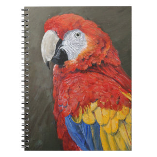 Gifts for the Parrot lover. Scarlet Macaw Notebook