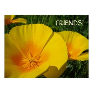 GIFTS FRIENDS! Christmas POPPIES Art Prints Framed Print